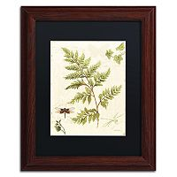 Trademark Fine Art Ivies and Ferns I Wood Finish Framed Wall Art