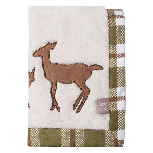 Trend Lab Deer Lodge Fleece Baby Blanket