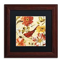 Trademark Fine Art Rainbow Garden Spice III Framed Wall Art