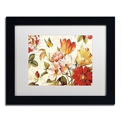 Trademark Fine Art Poesie Florale III Black Framed Wall Art