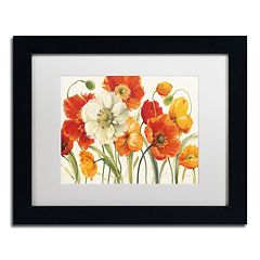 Trademark Fine Art Poppies Melody I Black Framed Wall Art