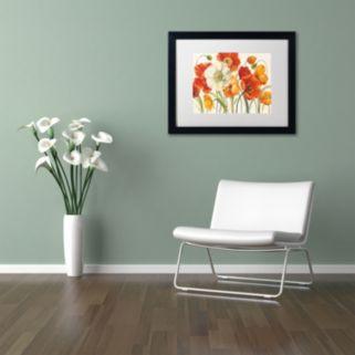 Trademark Fine Art Poppies Melody I Black Framed Wall Art