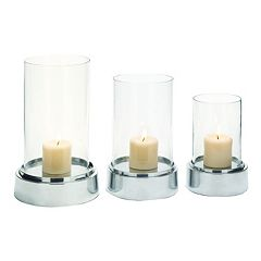Polished Pillar Candle Holder 3-piece Set