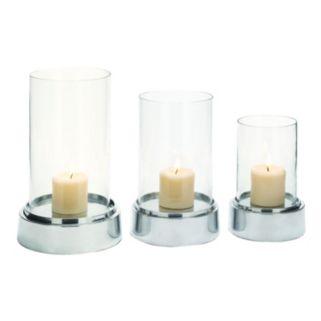Polished Pillar Candle Holder 3-piece Set