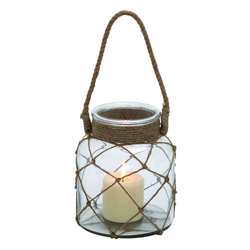 Glass Rope Candle Lantern