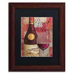 Trademark Fine Art Vin Abstract I Wood Finish Framed Wall Art