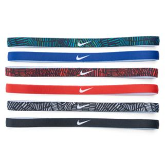 Nike 6-pk. Solid & Printed Skinny Headband Set