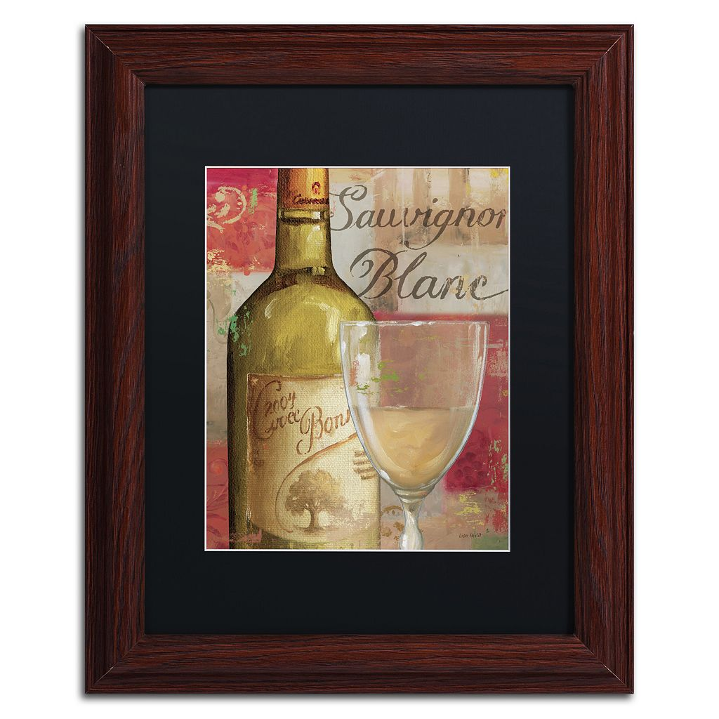 Trademark Fine Art Vin Abstract II Wood Finish Framed Wall Art