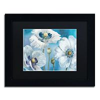 Trademark Fine Art Blue Dance I Black Framed Wall Art
