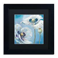 Trademark Fine Art Blue Dance II Black Framed Wall Art