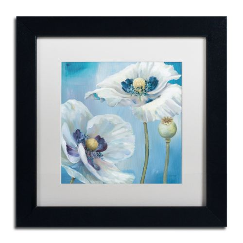 Trademark Fine Art Blue Dance II Black Framed Wall Art