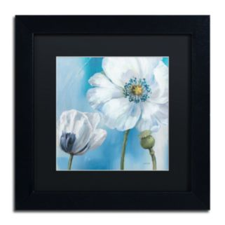 Trademark Fine Art Blue Dance III Black Framed Wall Art