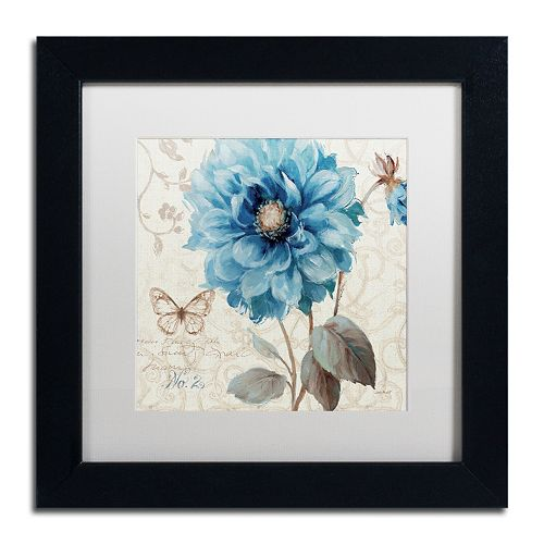 Trademark Fine Art A Blue Note II Black Framed Wall Art