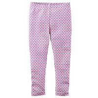 Girls 4-8 Carter's Patterned Full-Length Leggings