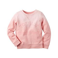 Girls 4-8 Carter's French Terry Slogan Applique Pullover