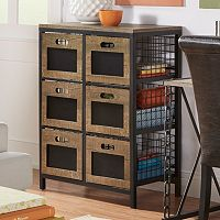 HomeVance Cooper Mixed Media 6-Drawer Storage Tower