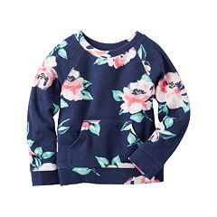 Girls 4-8 Carter's French Terry Floral Pullover