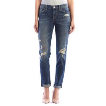 Women's Rock & Republic® Berlin Midrise Cuffed Ripped Skinny Jeans