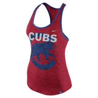 Women's Nike Chicago Cubs Marled Racerback Tank