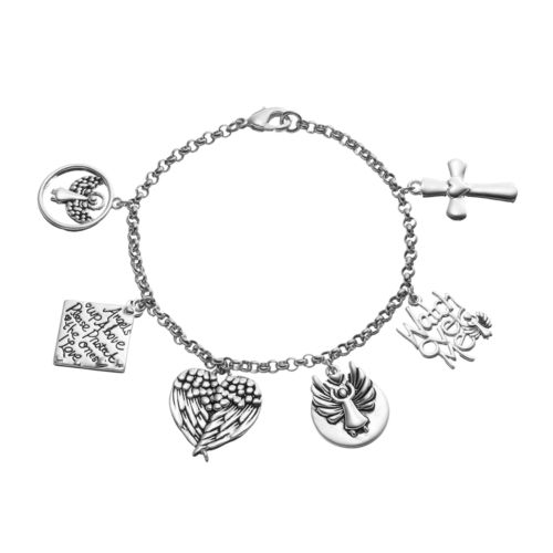 """love this life """"Watch Over Me"""" Angel Charm Bracelet"""