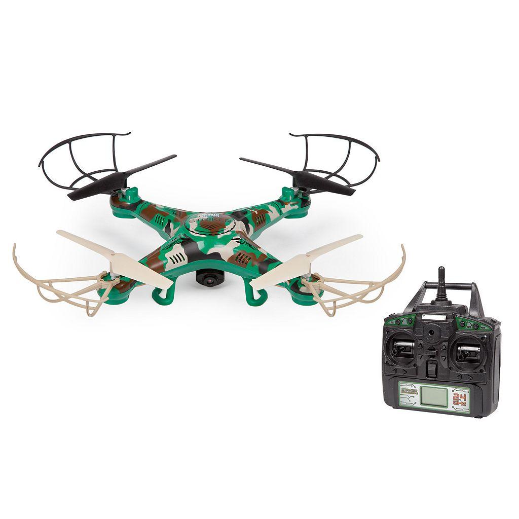 World Tech Toys Striker Camouflage Remote Control Quadcopter Spy Drone