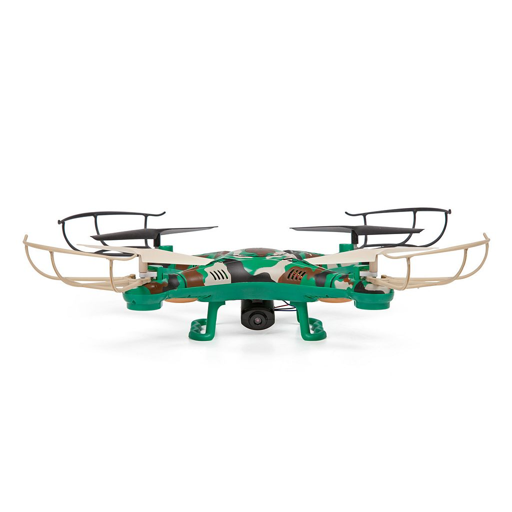 World Tech Toys Striker Camouflage Remote Control Quadcopter Spy Drone