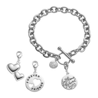 """love this life""""Sisters"""" Bracelet & Charms Set"""