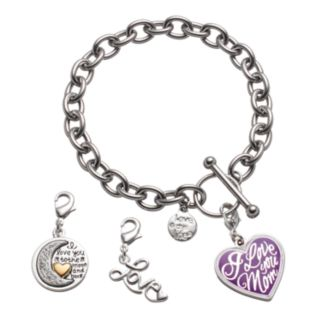 "love this life ""I Love You Mom"" Bracelet & Crystal Charms Set"