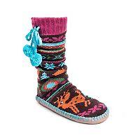 Women's MUK LUKS Pom Pom Slipper Socks