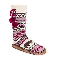Women's MUK LUKS Pom Pom Slipper Socks