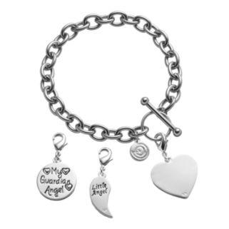"love this life ""Little Angel"" Bracelet & Crystal Charms Set"