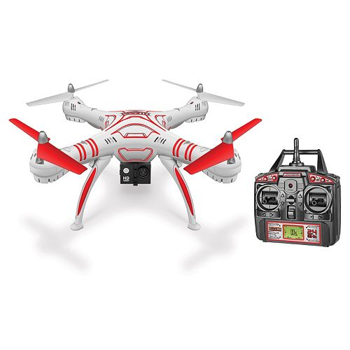 World Tech Toys Wraith HD Video Camera Remote Control Quadcopter Spy Drone