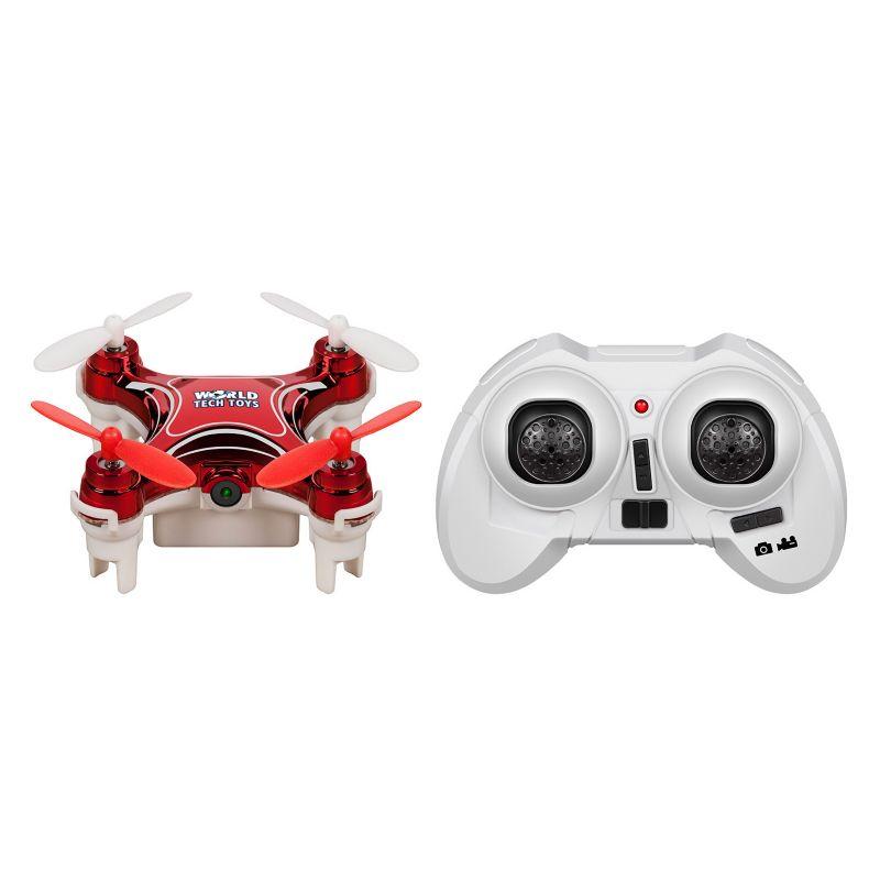 World Tech Toys Nemo Camera Remote Control Quadcopter Spy Drone, Red