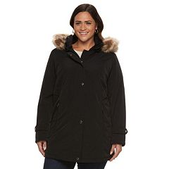 Plus Size Gallery Hooded Stadium Jacket