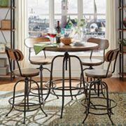 HomeVance Sorenson Counter Height Adjustable Dining Table 5 pc Set