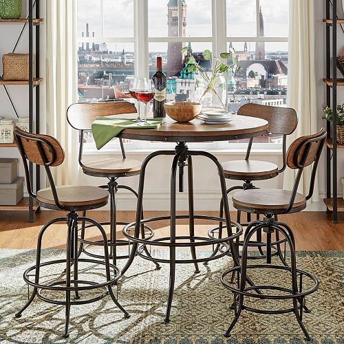 Homevance Sorenson Counter Height Adjustable Dining Table