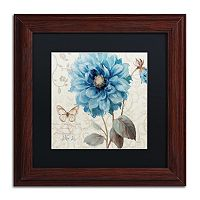 Trademark Fine Art A Blue Note II Wood Finish Framed Wall Art