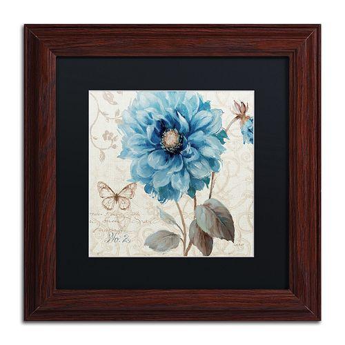 Trademark Fine Art A Blue Note II Wood Finish Framed Wall Art