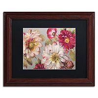 Trademark Fine Art Classically Beautiful I Wood Finish Framed Wall Art