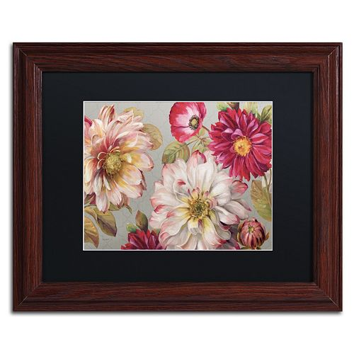 Trademark Fine Art Classically Beautiful I Wood Finish Framed Wall Art