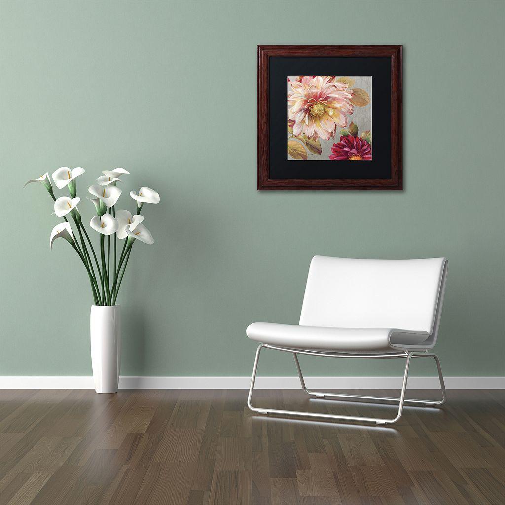 Trademark Fine Art Classically Beautiful III Wood Finish Framed Wall Art
