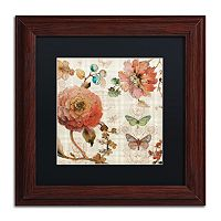Trademark Fine Art French Country IV Wood Finish Framed Wall Art