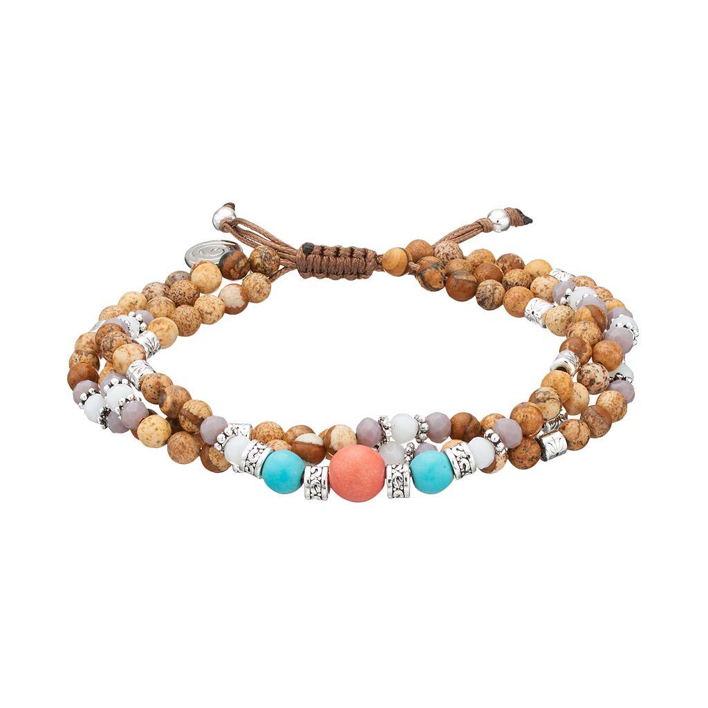 love this life Beaded Multi Strand Bracelet
