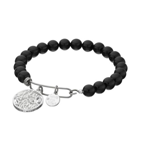 "love this life ""You Are Strong"" Onyx Beaded Bracelet"