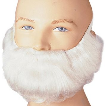 Adult White Costume Beard & Mustache