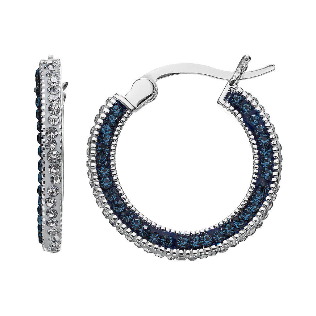 Silver Luxuries Crystal Hoop Earrings
