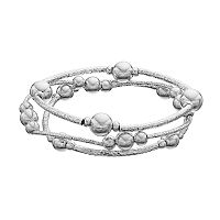 Apt. 9® Silver Tone Beaded Stretch Bracelet Set