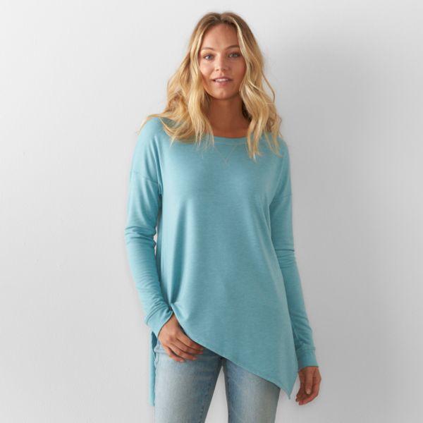 Women S Sonoma Goods For Life Asymmetrical Soft Tunic