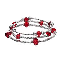 Apt. 9® Red Beaded Curved Bar Stretch Bracelet Set