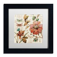 Trademark Fine Art French Country V Black Framed Wall Art